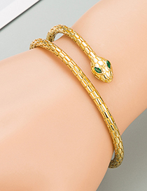 Fashion Gold Color Serpentine Copper Inlaid Zircon Bracelet