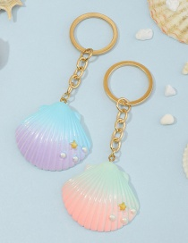 Fashion Color Simulation Shell Resin Keychain
