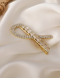 Fashion Golden Knotted Zircon Hairpin
