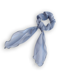 Fashion S6 Blue Gray Net Yarn Streamer Large Intestine Hair Ring