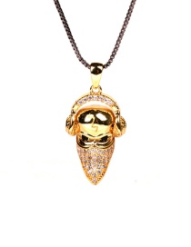 Fashion Golden Little Duck With Diamonds And Gold-plated Copper Necklace