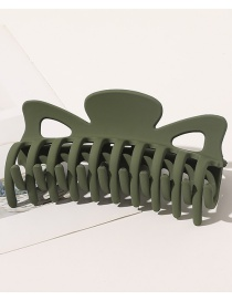 Fashion Matte-army Green Frosted Hollow Gripping Clip