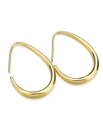 Fashion Golden Oval Ring Adjustable Earrings