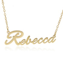 Fashion Rebecca-gold Stainless Steel English Letter Necklace
