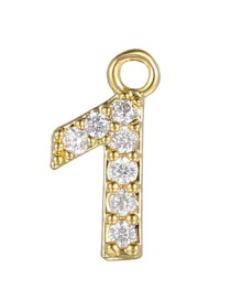 Fashion 1 (golden) Gold-plated Copper Digital Jewelry Accessories
