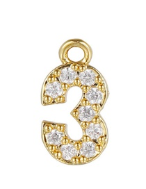 Fashion 3 (golden) Gold-plated Copper Digital Jewelry Accessories