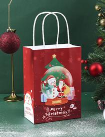 Fashion Christmas Snowman Crystal Ball Medium (width 21. Height 27. Width 11cm) Christmas Printed Paper Bag