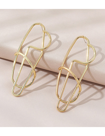 Fashion Gold Color Geometric Alloy Hollow Earrings