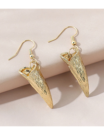 Fashion Gold Color Horn Alloy Geometric Earrings