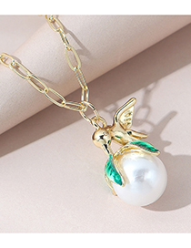 Fashion Gold Color Pearl Bird Alloy Necklace
