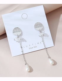 Fashion White Real Gold Plated Pearl Earrings