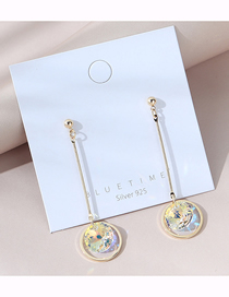 Fashion Golden Real Gold Plated Crystal Earrings