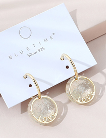 Fashion Golden Real Gold Plated English Alphabet Earrings