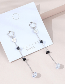 Fashion Platinum Real Gold Plated Five-pointed Star Earrings