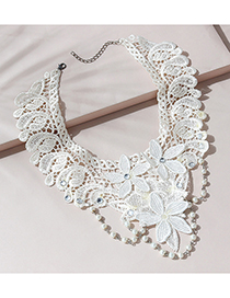 Fashion Beige Pearl Lace Necklace