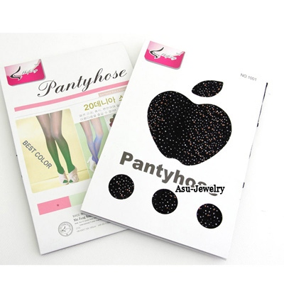 Sapphire Black Dot Design Velvet Fashion Stockings
