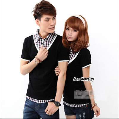 Diabetic Black Fashion Turn-Down Collar Fake Cotton Lover Suit