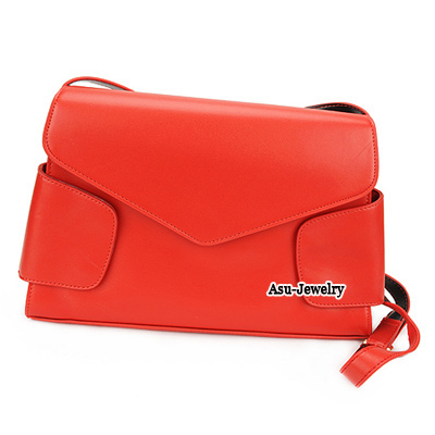 Costume Red Simple Design PU Shoulder bags