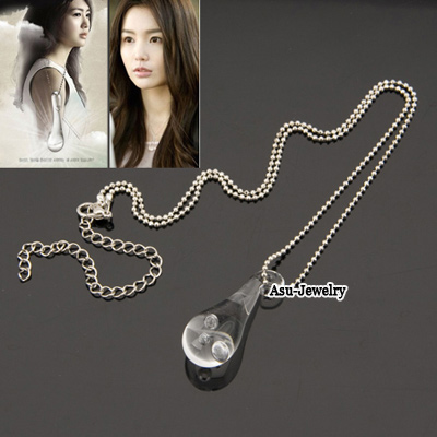 Unusual Silver Color Tears Resin Korean Necklaces