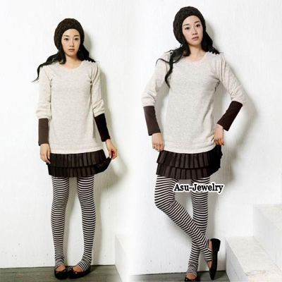 Skinny Gray Trample Feet Design Imitation wool Trousers