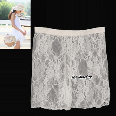 Magnifying White Lace Comfortable Pants