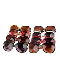 Exquisite With Color will be random Frame Fashion Gradient Lens Big Frame Resin Sunglasses