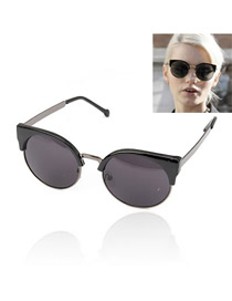 Hiking With Black Frame Fashion Half Frame Design Resin Women Sunglasses