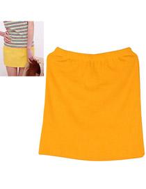 Tall Orange Fit Sile A Shape Skirt Cotton Dress-Skirt