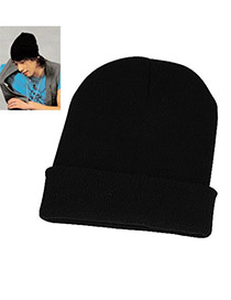Patagonia Black Simple Knitting Wool Fashion Hats
