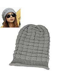 Sample Gray Earmuffs Knitting Wool Fashion Hats