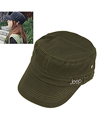 Quality Dark Green Sunhat Navy Hat Cotton Baseball Caps