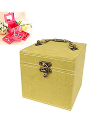 Posh Green Inner Three Layer Design Alloy Jewelry box