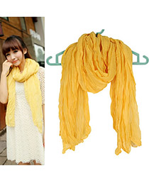 Evil Yellow Fold Design Fibre Thin Scaves
