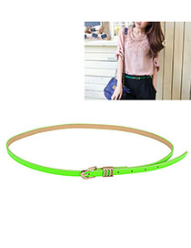 Pregnancy Green Fluorescence Color PU Thin belts