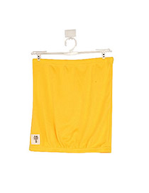 Tungsten Yellow Fit Silm A Shape Design Cotton Blends Dress-Skirt