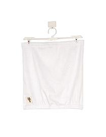 Free White Fit Silm A Shape Design Cotton Blends Dress-Skirt