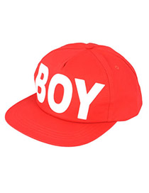 Woolrich Red Girl Boy Word Cotton Fashion Hats