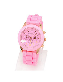 Padded Pink Elly Fluorescence Color Alloy Fashion Watches