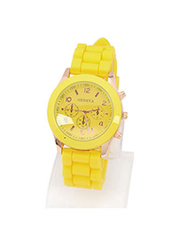 Bespoke Yellow Elly Fluorescence Color Alloy Fashion Watches
