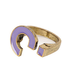 Native Purple Question Mark Alloy Korean Rings