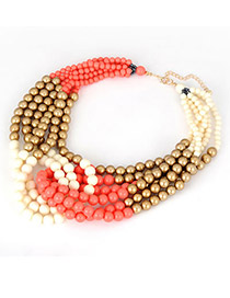 Noble Orange Multicolor Beads