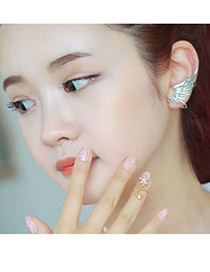 Quality Gold Color Sea Star Rotating Design Alloy Korean Rings