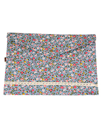 Athletic Dark Blue A4 Storage Flower Style Cloth Pencil Case Paper Bags
