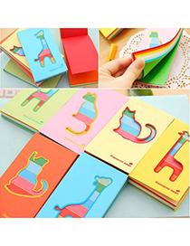Christenin Color Will Be Random Cartoon Animal Design Paper Scratch Pad Sticky