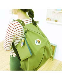 2012 Green Multifunction Foldable Two Shoulder Design