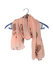 Mint Pink Pirate Skull Pattern Chiffon Fashion Scarves