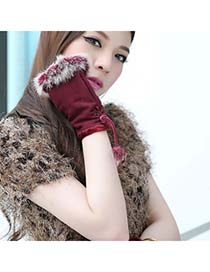 Stainless Claret-Red Thicken Warth Fingerless