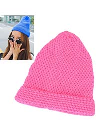 Mini Plum Red Pineapple Shape Deisgn Knitting Wool Fashion Hats