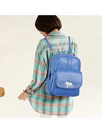 Funny Blue Little Horse Design Pu Backpack