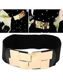 Tribal Gold Color Simple Decorated Design Alloy Wide belts
